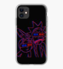 Rick and Morty 3D Glasses iPhone Case