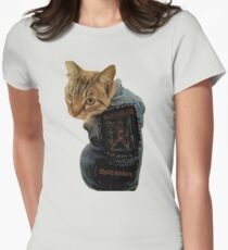 Iron Maiden Cat Women's Fitted T-Shirt