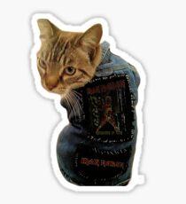 Iron Maiden Cat Sticker