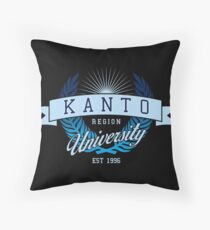 Kanto Region University_Dark BG Throw Pillow