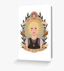 Kara Thrace Greeting Card