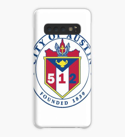 City of Austin Seal with 512 Area Code Case/Skin for Samsung Galaxy