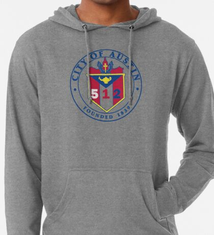 City of Austin Seal with 512 Area Code Lightweight Hoodie