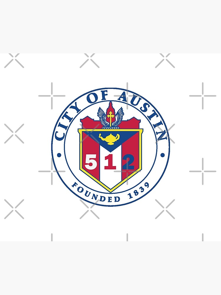 City of Austin Seal with 512 Area Code by willpate