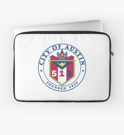 City of Austin Seal with 512 Area Code Laptop Sleeve