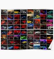 """TeeMack Productions """"Car Art Collection"""" Poster"""