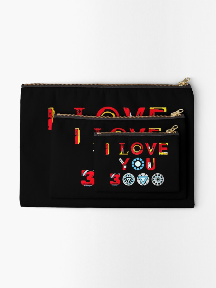 Alternate view of I Love You 3000 v3 Zipper Pouch