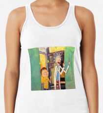 "Rick and Morty Oil Stick painting ""Peace Among Worlds"" Racerback Tank Top"