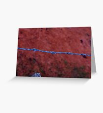 Barbed wire Greeting Card