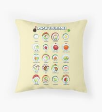 Know Your Roll - Cute Educational Sushi Throw Pillow