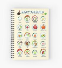 Know Your Roll - Cute Educational Sushi Spiral Notebook