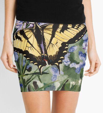 Yellow Swallowtail Butterfly Mini Skirt