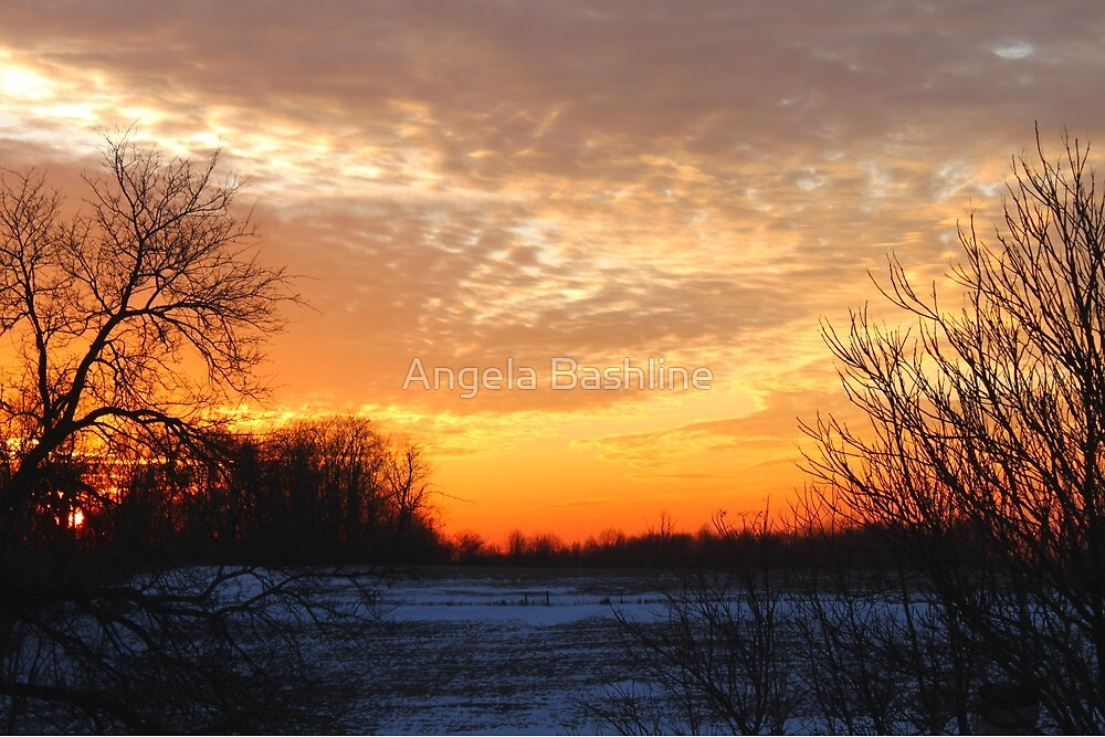 Sunset and First Dust by Angela Bashline