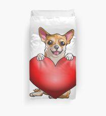Chihuahua-Valentinsgrüße Bettbezug