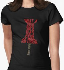 More than a person Typography (Paper Towns 3 of 7) Womens Fitted T-Shirt