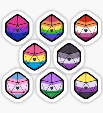 Pride d20 set Sticker