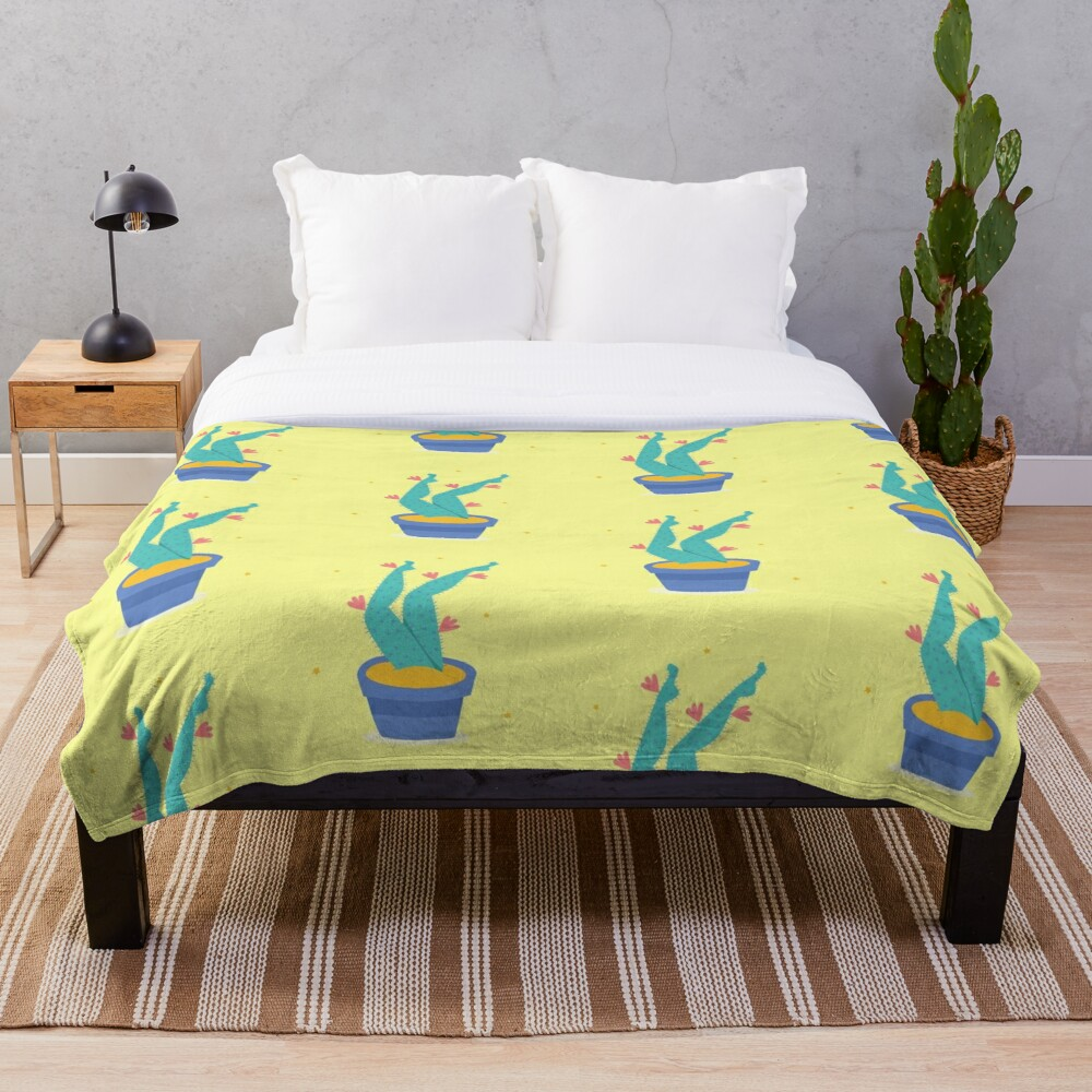 Cactus legs Throw Blanket