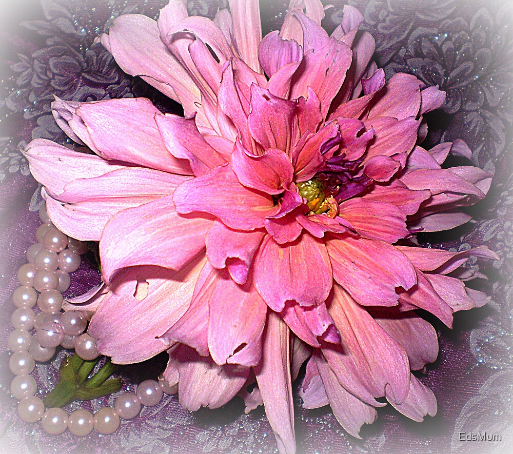 Pink Dahlia & some Pearls by EdsMum