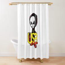 USB sLAve Shower Curtain
