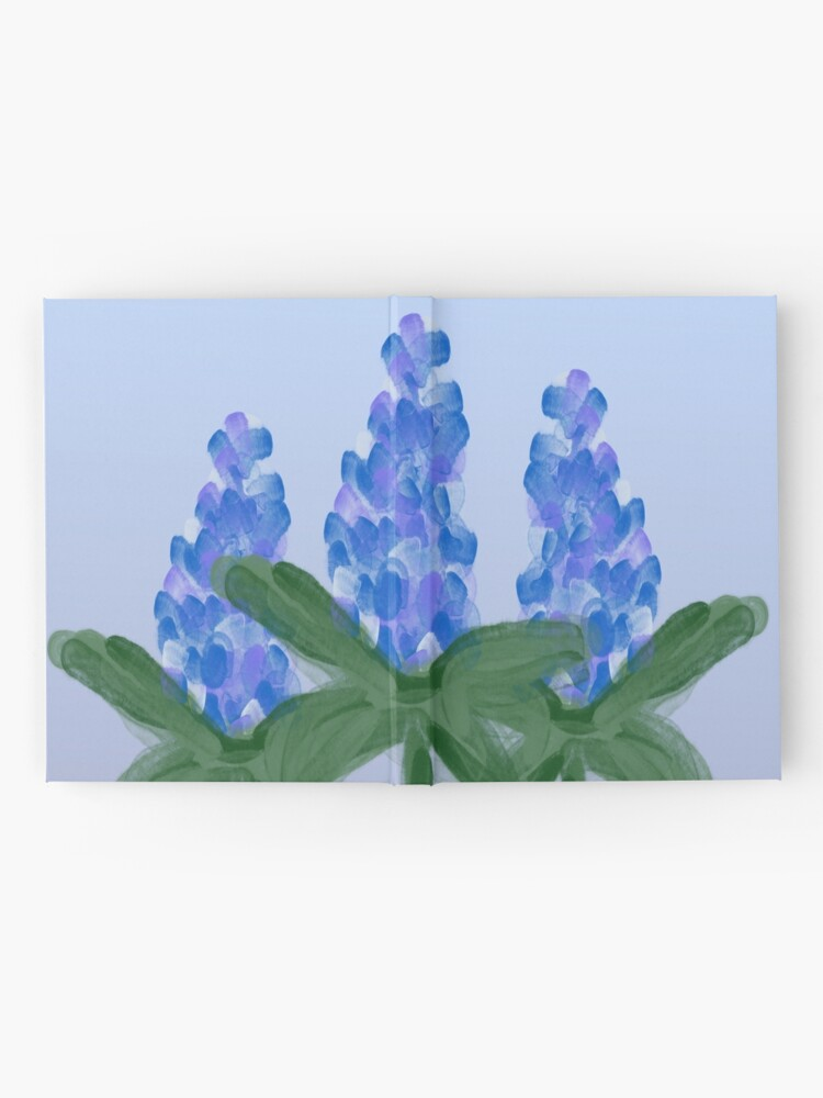 Alternate view of Watercolor Blue Bonnet Hardcover Journal