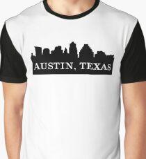 Austin, Texas City Skyline Silhouette  Graphic T-Shirt