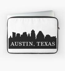 Austin, Texas City Skyline Silhouette  Laptop Sleeve