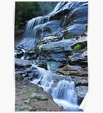 Bridal Veil Falls, Blue Mountains, NSW Poster