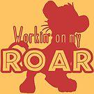 Lion King - Working on my Roar - red by Unicornarama