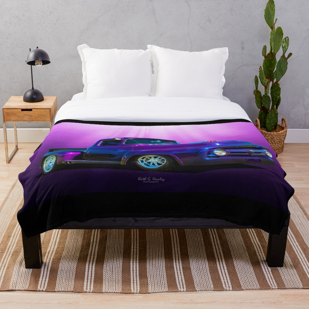 Deep Dark Purple Throw Blanket