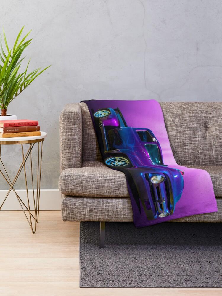 Alternate view of Deep Dark Purple Throw Blanket