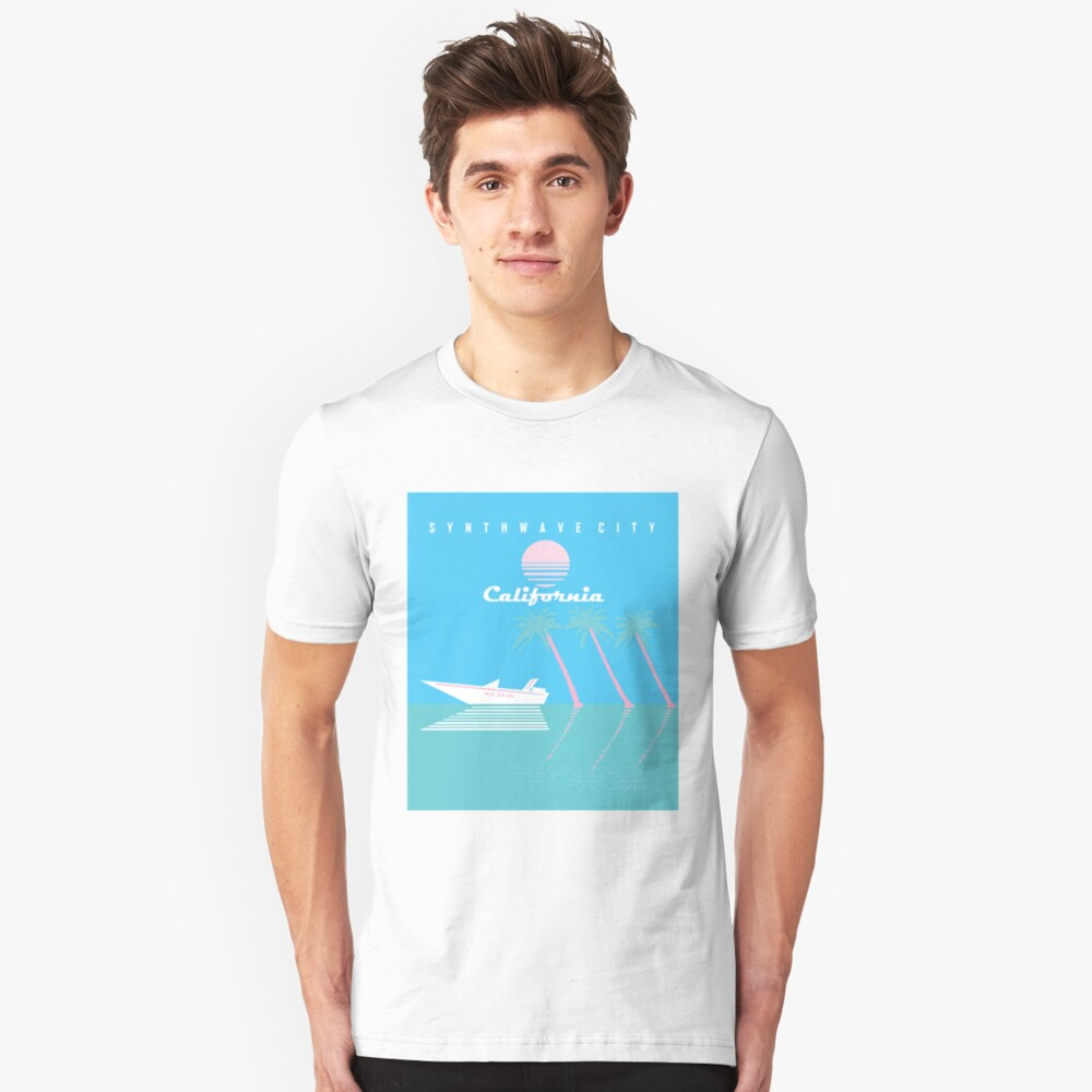 Synthwave City Slim Fit T-Shirt