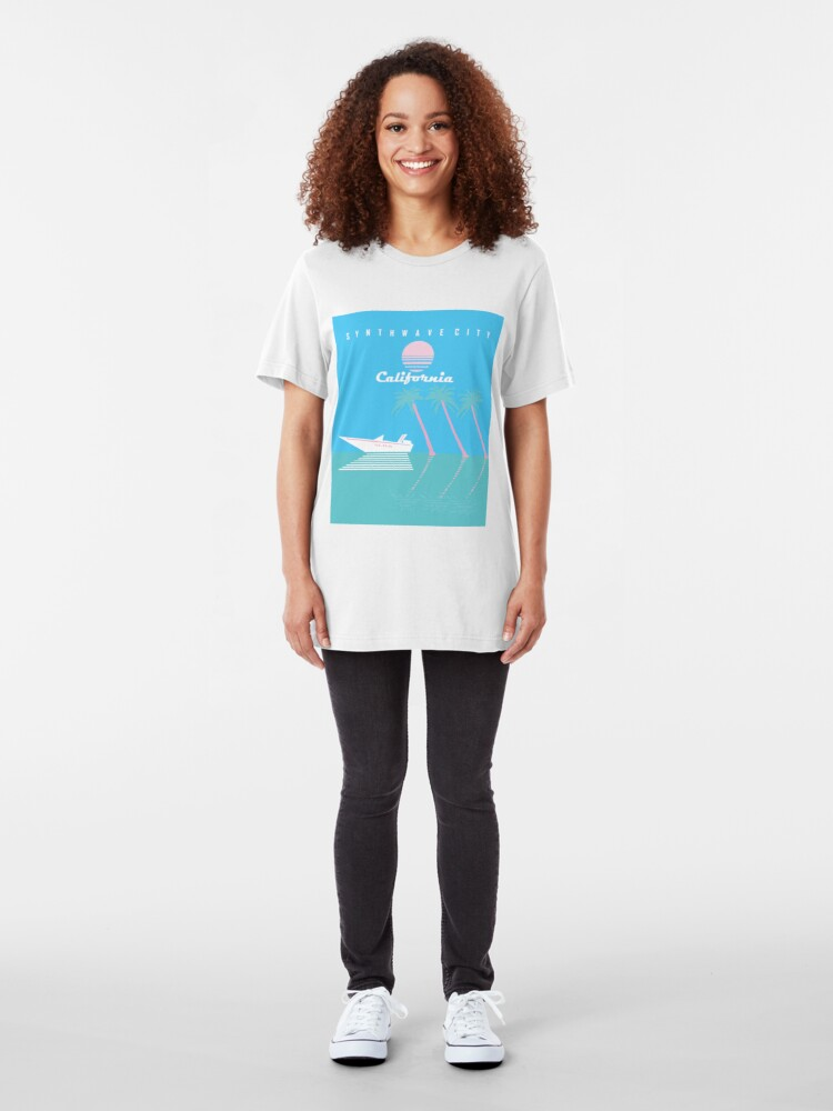 Alternate view of Synthwave City Slim Fit T-Shirt