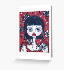 China Doll Dannii Greeting Card