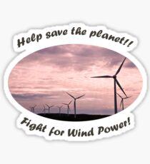 Windfarm T Sticker