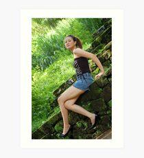 Model shoot in La Mesa Ecopark 10 Art Print