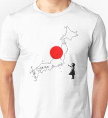 Japanese Girl Balloon Unisex T-Shirt