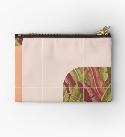 Mid-Century Tropical Mood #redbubble #tropical Zipper Pouch
