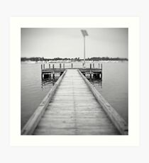 Pinhole jetty Art Print