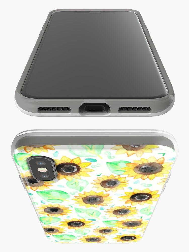 Alternative Ansicht von Fröhliche Aquarell Sonnenblumen iPhone-Hülle & Cover