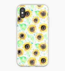 Fröhliche Aquarell Sonnenblumen iPhone-Hülle & Cover