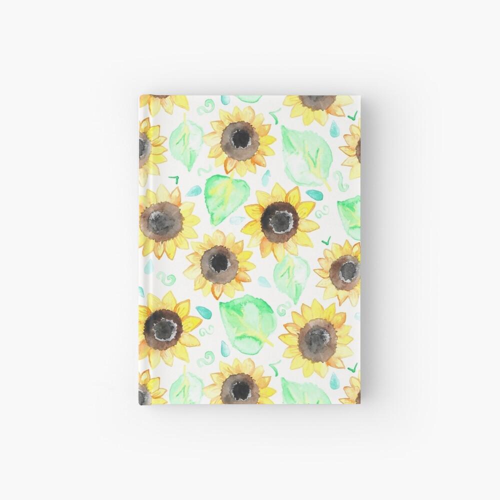 Fröhliche Aquarell Sonnenblumen Notizbuch