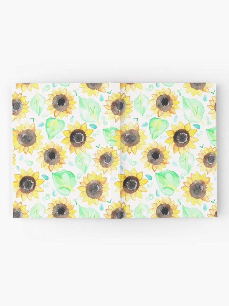 Alternative Ansicht von Fröhliche Aquarell Sonnenblumen Notizbuch