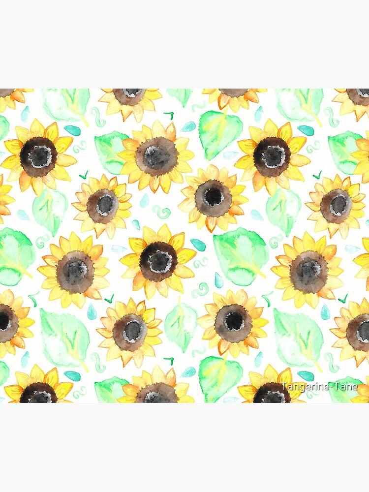 Fröhliche Aquarell Sonnenblumen von Tangerine-Tane