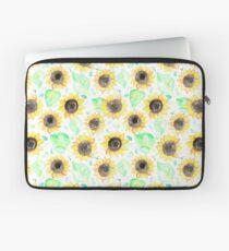 Fröhliche Aquarell Sonnenblumen Laptoptasche