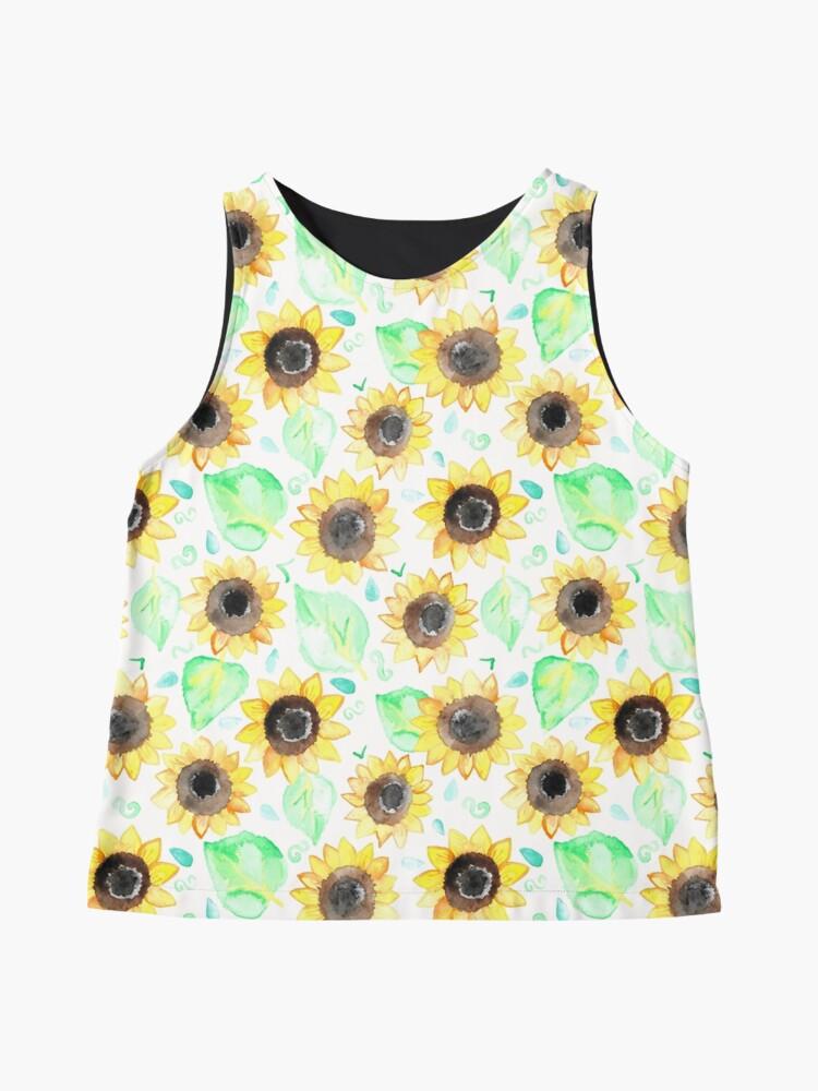 Alternative Ansicht von Fröhliche Aquarell Sonnenblumen Ärmelloses Top