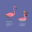 Types of flamingo by Milkyprint