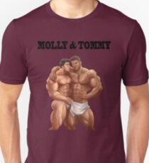 Two muscle guys Slim Fit T-Shirt