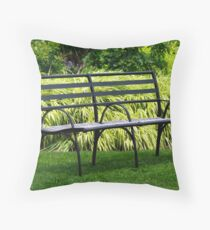 Inviting Bench Throw Pillow