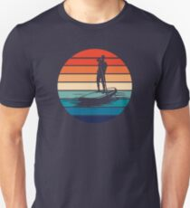 Stand Up Paddleboarding SUP Retro Design Mens Slim Fit T-Shirt
