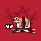 Sloth sushi by Randyotter
